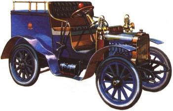 Почтовый автомобиль конструкции Б Г Луцкого