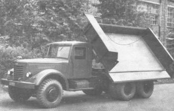 Опытный самосвал ЯАЗ-218