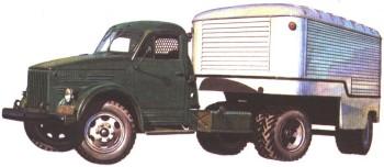 ГАЗ-51П с полуприцепом ПАЗ-744