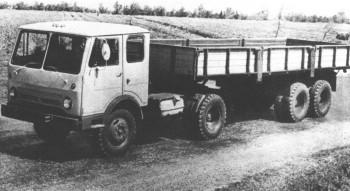 КАЗ-608 с полуприцепом КАЗ-717