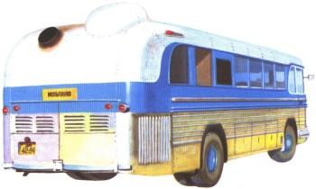 Газотурбинный автобус Турбо НАМИ-053