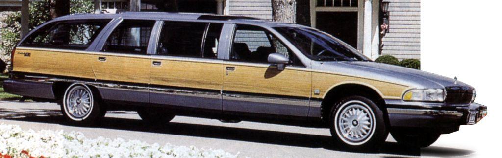 """Лимузин — автомобиль  для сильных мира сего, он может, оказывается, иметь кузов """"универсал"""" (Buick Grand Estate Wagon)."""